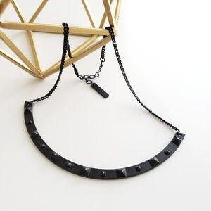 Vince Camuto black stud bar necklace